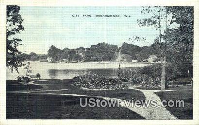 City Park - Oconomowoc, Wisconsin WI Postcard