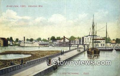 River View - Oshkosh, Wisconsin WI Postcard