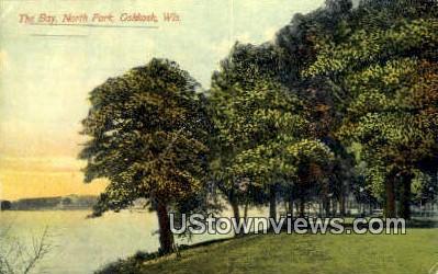 Bay, North Park - Oshkosh, Wisconsin WI Postcard