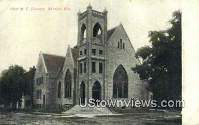 First ME Church - Neenah, Wisconsin WI Postcard