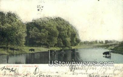 River Scene - Columbus, Wisconsin WI Postcard