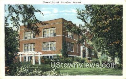 Normal School - Columbus, Wisconsin WI Postcard