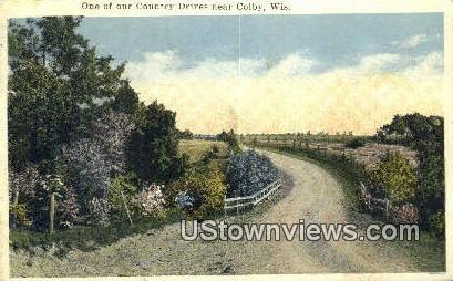 Country Drives - Colby, Wisconsin WI Postcard