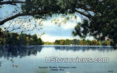 Pokegama Lake - Chetek, Wisconsin WI Postcard