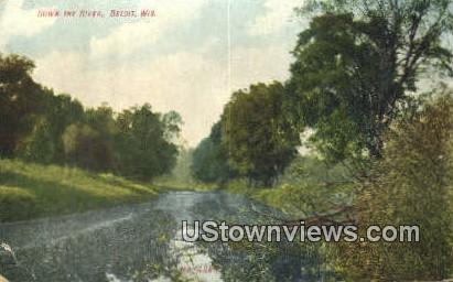 Down the River - Beloit, Wisconsin WI Postcard