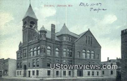 City Hall - Oshkosh, Wisconsin WI Postcard