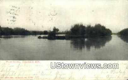 Plum Island - Columbus, Wisconsin WI Postcard