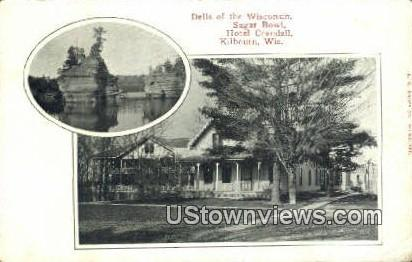 Sugar Bowl, Hotel Crandall - Kilbourn, Wisconsin WI Postcard