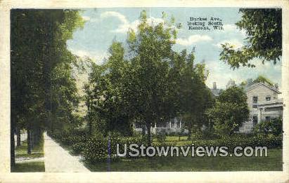 Durkee Ave - Kenosha, Wisconsin WI Postcard