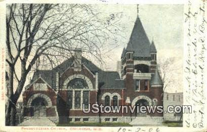 Presbyterian Church - Oshkosh, Wisconsin WI Postcard