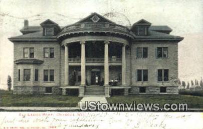 Old Ladies Home - Oshkosh, Wisconsin WI Postcard