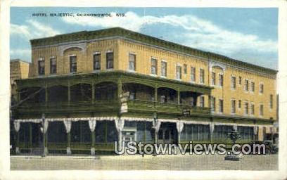 Hotel Majestic - Oconomowoc, Wisconsin WI Postcard