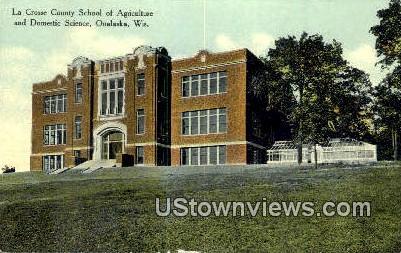 La Crosse County School - Onalaska, Wisconsin WI Postcard
