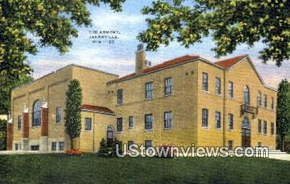 The Armory - Janesville, Wisconsin WI Postcard