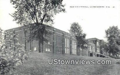 New High School - Oconomowoc, Wisconsin WI Postcard