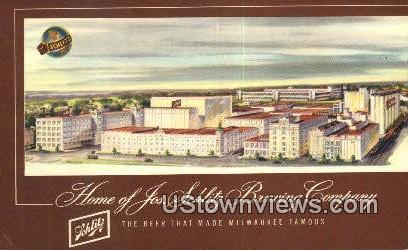 Schlitz Brewery - MIlwaukee, Wisconsin WI Postcard