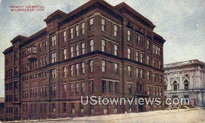 Trinity Hospital - MIlwaukee, Wisconsin WI Postcard