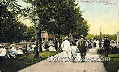 Lake Park, Concert Day - MIlwaukee, Wisconsin WI Postcard