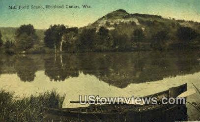 Mill Pond - Richland Center, Wisconsin WI Postcard