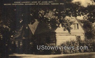James Doty Home, Second Territorial Governor - Neenah, Wisconsin WI Postcard