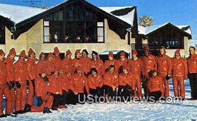 Ray T Stemper Ski School - Slinger, Wisconsin WI Postcard