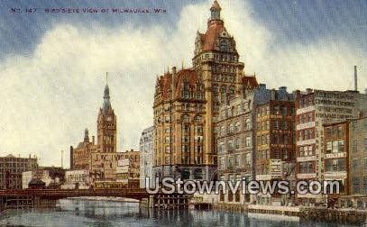 Milwaukee, Wisconsin,     ;     Milwaukee, WI Postcard