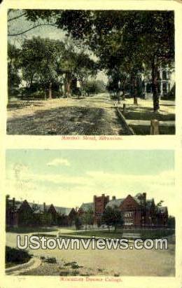 Marshall Street - MIlwaukee, Wisconsin WI Postcard