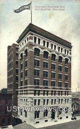 Wisconsin Telephone Co's New Building - MIlwaukee Postcard