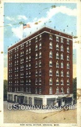 new Hotel Dayton - Kenosha, Wisconsin WI Postcard