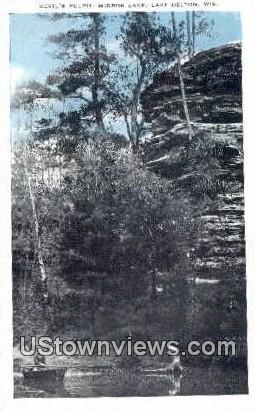 Devil's Pulpit, Mirror Lake - Lake Delton, Wisconsin WI Postcard