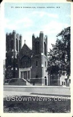 St John's Evangelical Church - Monroe, Wisconsin WI Postcard