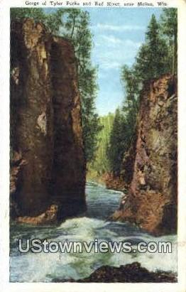 Gorge, Tyler Forks & Bad River - Mellen, Wisconsin WI Postcard