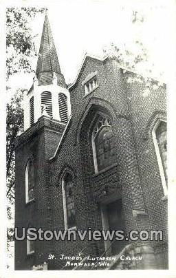 Real Photo - St Jacob's Luthern Church - Norwalk, Wisconsin WI Postcard