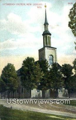 Luthern Church - New London, Wisconsin WI Postcard