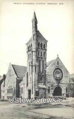 Trinity Episcopal Church - Oshkosh, Wisconsin WI Postcard