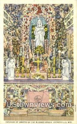 Grotto, Blessed Virgin - Dickeyville, Wisconsin WI Postcard