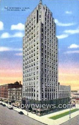 Wisconsin Tower - MIlwaukee Postcard