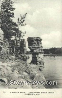 Chimney Rock - Kilbourn, Wisconsin WI Postcard