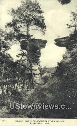 Stand Rock - Kilbourn, Wisconsin WI Postcard