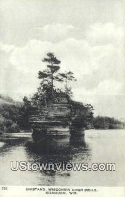 Inkstand, Wisconsin River Dells - Kilbourn Postcard