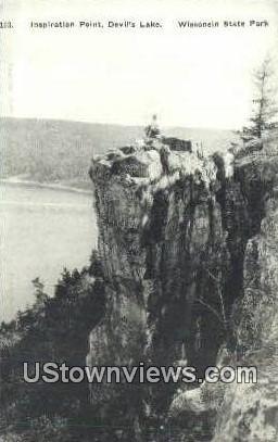 Inspiration Point, Devil's Lake - Wisconsin State Park Postcards, Wisconsin WI Postcard