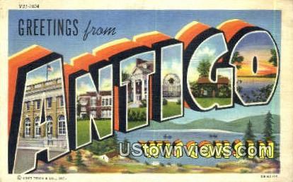 Antigo, Wis,     ;     Antigo, WI - Wisconsin WI Postcard