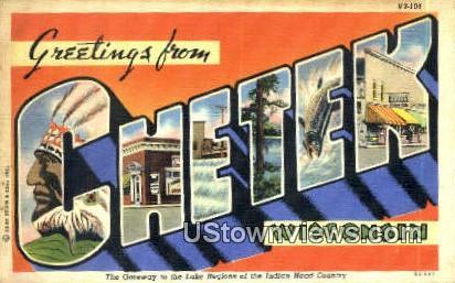 Chetek, WI,     ;     Chetek, Wisconsin Postcard
