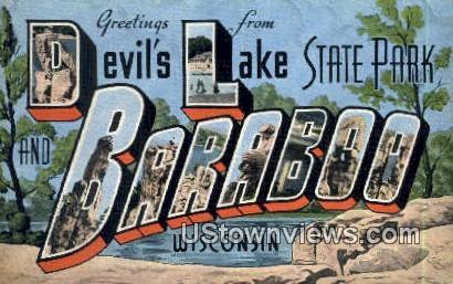 Devil's Lake State Park - Baraboo, Wisconsin WI Postcard