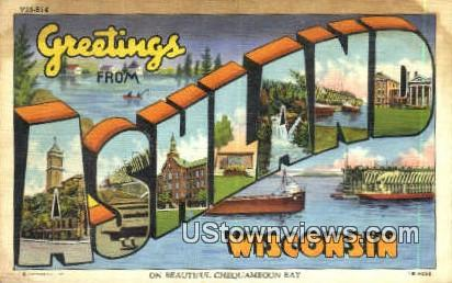 Ashland, Wisconsin,     ;     Ashland, WI Postcard