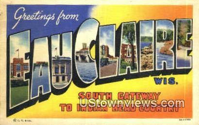 Eau Claire, Wisconsin WI Postcard