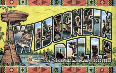Wisconsin Dells, Wisconsin,     ;     Wisconsin Dells, WI - Wisconsin Dells Postcards Postcard