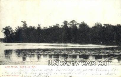 Lake Scene - Rice Lake, Wisconsin WI Postcard