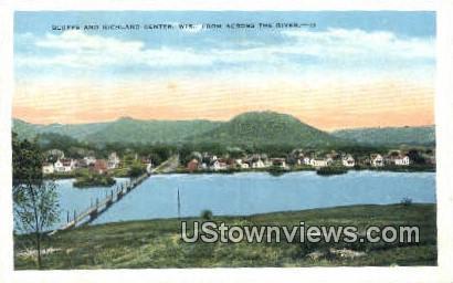 Bluffs - Richland Center, Wisconsin WI Postcard