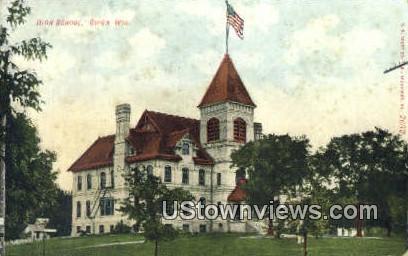 High School, Ripon - Wisconsin WI Postcard